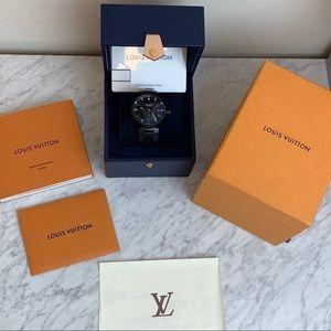 Louis Vuitton Tambour Black Petite Seconde Watch